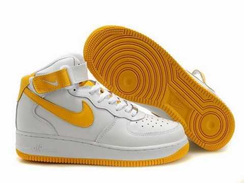 nike air force 1 jaune et blanche femme